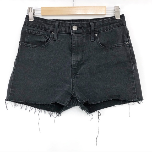 LEVI'S 721 High Rise Skinny Jean Short Black 28